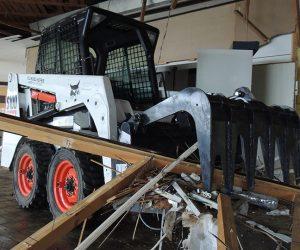 S100 Bobcat Kompaktlader Anbaugeraet Industriegreiferschaufel