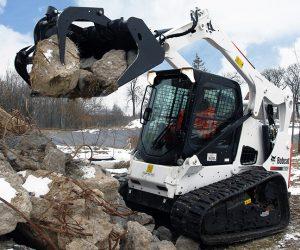 T650 Bobcat Kompaktraupe Anbaugeraet Industriegreiferschaufel 3