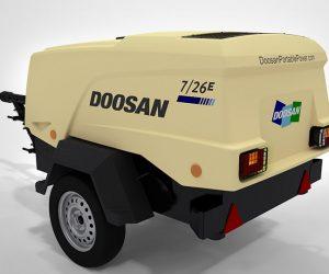 7 26e Doosan Portable Power Kompressoren Fist