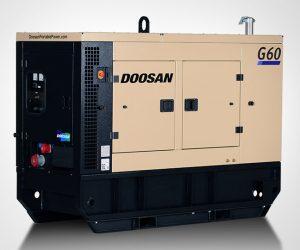 G60 Doosan Portable Power Generatoren First