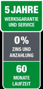 FINANZIERUNG, WERKSGARANTIE & SERVICE